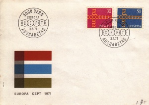 eu1971switzerlandFDC